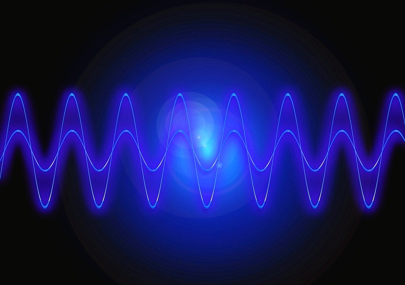 The frequencies of light waves